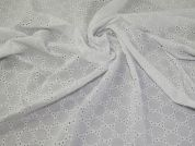 Embroidered Cotton Fabric  White