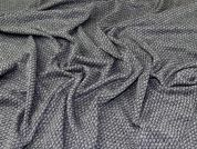 Soft Textured Knit Fabric  Grey