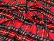 Brushed Cotton Flannel Fabric  Red