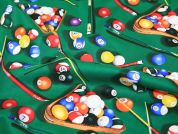 Timeless Treasures Playing Pool Sport Quilting Fabric