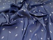 Stretch Rayon Chambray Fabric  Blue