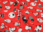 Timeless Treasures Crafty Sheep Quilting Fabric