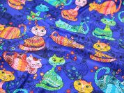 Timeless Treasures Sophisticated Cats Quilting Fabric