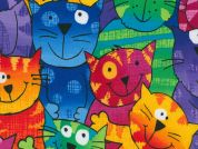 Timeless Treasures Happy Cats Poplin Quilting Fabric