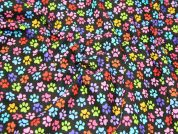 Timeless Treasures Multicolour Paws Quilting Fabric
