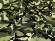 Camouflage Cotton Fabric  Green