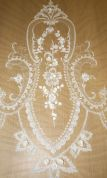 Caroline Vintage Style Placement Lace Couture Bridal Lace Fabric  Ivory
