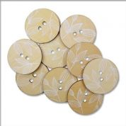 Round Wood Buttons  Cream