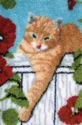 Caron Classics Latch Hook Rug Kit Oliver the Cat