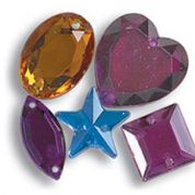 Impex Assorted Shape Plastic Diamante Jewels  Assorted