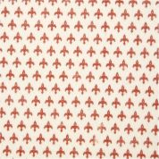 Fleur de Lis Print Polyester Felt Fabric Mini Roll  Red & Cream