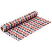 Floral Print Polyester Felt Fabric Mini Roll  Multicoloured