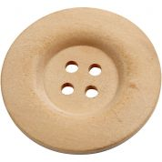 Round Wood Buttons  Natural