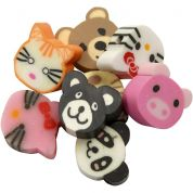 Animal Clay Beads  Multicoloured