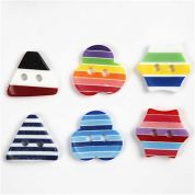 Decorative Resin Buttons  Multicoloured
