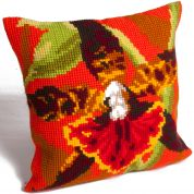 Collection dArt Cross Stitch Cushion Kit Tiger Orchid