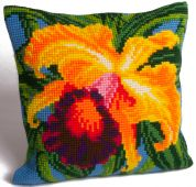 Collection dArt Cross Stitch Cushion Kit Paradise Orchid