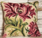 Collection dArt Cross Stitch Cushion Kit Wild Rose Left