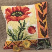 Collection dArt Cross Stitch Cushion Kit New Poppy