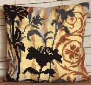 Collection dArt Cross Stitch Cushion Kit Silhouette on Left