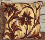 Collection dArt Cross Stitch Cushion Kit Silhouette in Middle