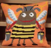 Collection dArt Cross Stitch Cushion Kit Mr Bizz