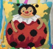 Collection dArt Cross Stitch Cushion Kit Colombine
