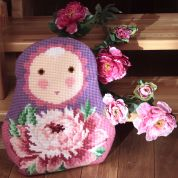 Collection dArt Cross Stitch Cushion Kit Baba Peony