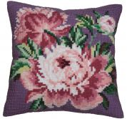 Collection dArt Cross Stitch Cushion Kit Cabbage Rose