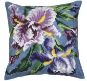 Collection dArt Cross Stitch Cushion Kit Purple Iris