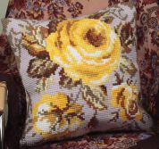 Collection dArt Cross Stitch Cushion Kit Antique Rose