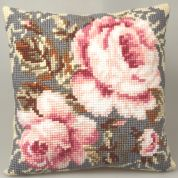 Collection dArt Cross Stitch Cushion Kit Ancient Rose