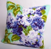 Collection dArt Cross Stitch Cushion Kit Double Lilac