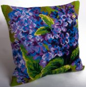 Collection dArt Cross Stitch Cushion Kit Single Lilac