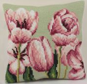 Collection dArt Cross Stitch Cushion Kit Tulip Left