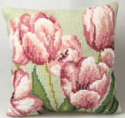 Collection dArt Cross Stitch Cushion Kit Tulip Right