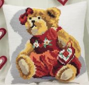 Collection dArt Cross Stitch Cushion Kit Teddy