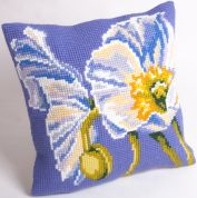 Collection dArt Cross Stitch Cushion Kit Snow Poppy