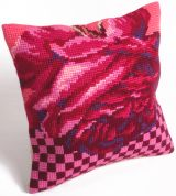 Collection dArt Cross Stitch Cushion Kit Cocktail Rose