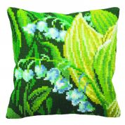 Collection dArt Cross Stitch Cushion Kit Lily of Valley Right