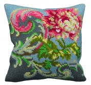Collection dArt Cross Stitch Cushion Kit Antique Rose Right
