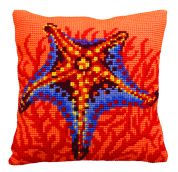 Collection dArt Cross Stitch Cushion Kit Orange Starfish