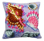 Collection dArt Cross Stitch Cushion Kit Pastel Fossil Left
