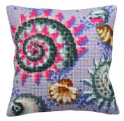 Collection dArt Cross Stitch Cushion Kit Pastel Fossil Right