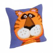Collection dArt Cross Stitch Cushion Kit Terence the Tiger