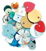 Craft Factory Assorted Shape Craft Sequins  Assorted Colours