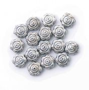 Craft Factory Metal Casting Craft Beads  Silver