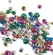 Craft Factory Round Plastic Metallic Craft Beads  Assorted Colours