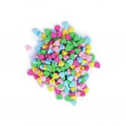 Craft Factory Heart Shape Plastic Craft Beads  Assorted Colours