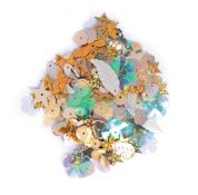Craft Factory Assorted Shape Craft Sequins  Gold Assortment